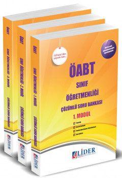 Lider Yayınları ÖABT Sınıf Öğretmenliği Çözümlü Soru Bankası Modüler Set