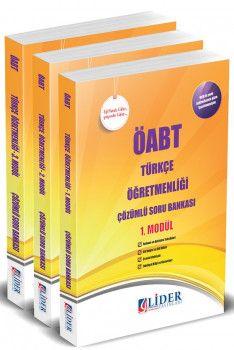 Lider Yayınları ÖABT Türkçe Öğretmenliği Çözümlü Soru Bankası Modüler Set