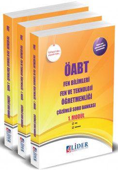 Lider Yayınları ÖABT Fen Bilimler Fen ve Teknoloji Öğretmenliği Çözümlü Soru Bankası Modüler Set