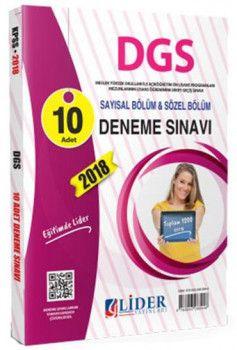 Lider Yayınları DGS Sayısal Sözel Bölüm 10 lu Deneme Sınavı