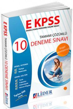 Lider Yayınları E KPSS Tamamı Çözümlü 10 Deneme Sınavı