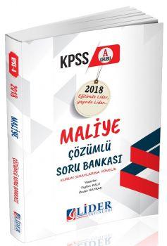 Lider Yayınları KPSS A Grubu Maliye Çözümlü Soru Bankası