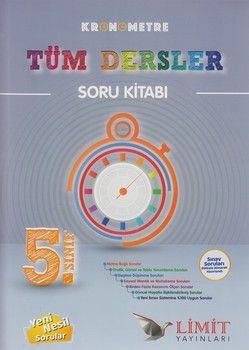 Limit Yayınları 5. Sınıf Tüm Dersler Kronometre Soru Kitabı