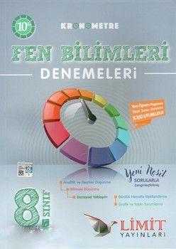 Limit Yayınları 8. Sınıf Kronometre Fen Bilimleri 10 Deneme