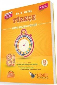 Limit Yayınları 8. Sınıf Türkçe Kronometre Konu Anlatım Föyleri