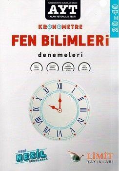 Limit Yayınları AYT Fen Bilimleri Kronometre 20 x 40 Denemeleri