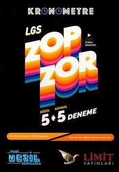 Limit Yayınları LGS Sözel Sayısal Kronometre Zopzor 5+5 Deneme
