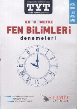 Limit Yayınları TYT Kronometre 20x40 Fen Bilimleri Denemeleri
