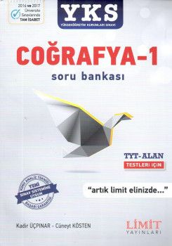 Limit Yayınları YKS 1. ve 2. Oturum TYT Alan Coğrafya 1 Soru Bankası