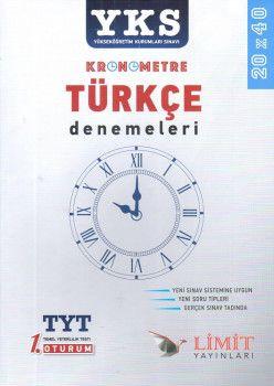 Limit Yayınları YKS 1. Oturum TYT Kronometre Türkçe Denemeleri 20X40