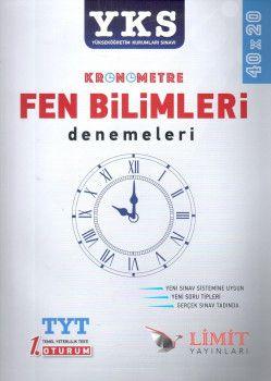 Limit Yayınları YKS 1. Oturum TYT Kronometre Fen Bilimleri 40X20 Denemeleri
