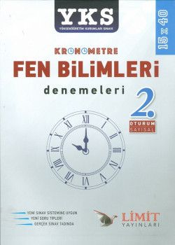 Limit Yayınları YKS 2. Oturum Kronometre Fen Bilimleri 2 Alan Denemesi 15x40