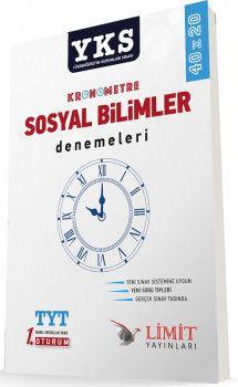 Limit Yayınları YKS 1. Oturum TYT Kronometre Sosyal Bilimler Denemeleri 40x20