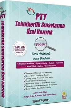 Liyakat Yayınları PTT Teknikerlik Sınavlarına Hazırlık FOCUS Konu Anlatımlı Soru Bankası