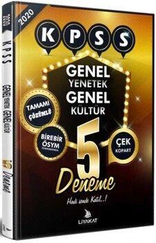 Liyakat Yayınları KPSS Genel Yetenek Genel Kültür Tamamı Çözümlü 5 Deneme
