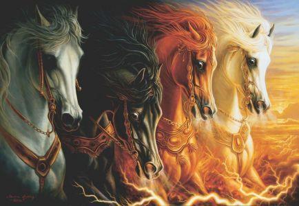 Mahşerin Dört Atı  The Four Horses Of Apocalypse 2000 Parça Yapboz
