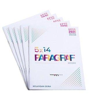 Marka Yayınları 2020 KPSS Yeni Nesil Kolaydan Zora 5 x 14 Paragraf Deneme