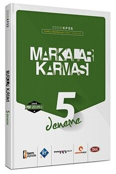 Marka Yayınları 2020 KPSS Lisans Markalar Karması 5 Farklı Yayın 5 Farklı PDF Çözümlü Deneme Sınavı Seti