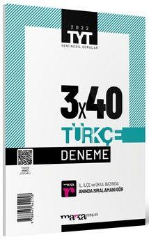 Marka Yayınları 2022 TYT Türkçe 3 x 40 Deneme