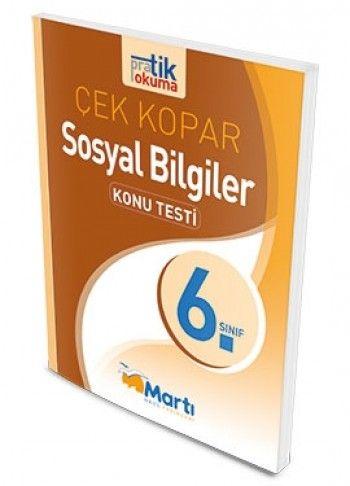 Martı Yayınları 6. Sınıf Sosyal Bilgiler Çek Kopar Konu Testi