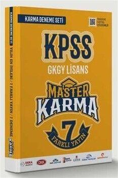 Master Karma KPSS Lisans Genel Yetenek Genel Kültür Deneme 7 Farklı Yayın Deneme Seti