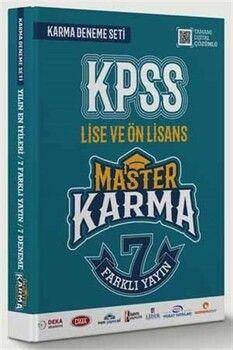 Master Karma KPSS Lise ve Ön Lisans 7 Farklı Yayın Deneme Seti
