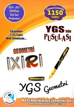 Matematik Koleji Yayınları YGS nin Pusulası Geometri İxiri Tamamı Çözümlü 1150 Soru