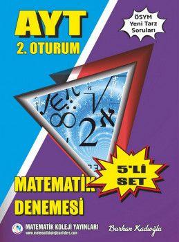 Matematik Koleji Yayınları YKS 2. Oturum AYT Matematik 5 Deneme Seti