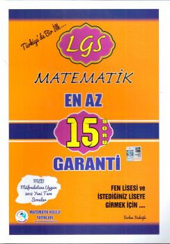 Matematik Koleji Yayınları LGS Matematik En Az 15 Soru Garanti