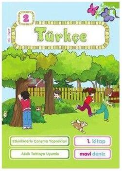 Mavi Deniz 2. Sınıf Türkçe Etkinliklerle Çalışma Yaprakları 1. Kitap