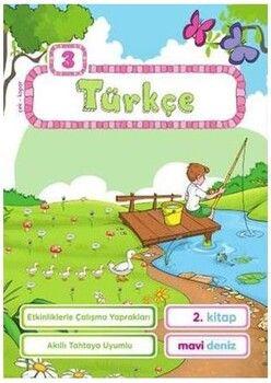 Mavi Deniz 3. Sınıf Türkçe Etkinliklerle Çalışma Yaprakları 2. Kitap