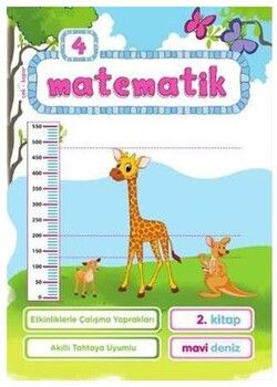 Mavi Deniz 4. Sınıf Matematik Etkinliklerle Çalışma Yaprakları 2. Kitap