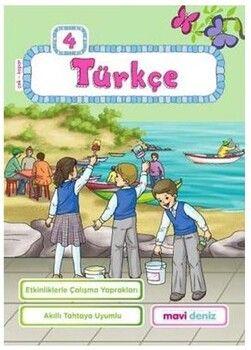 Mavi Deniz 4. Sınıf Türkçe Etkinliklerle Çalışma Yaprakları