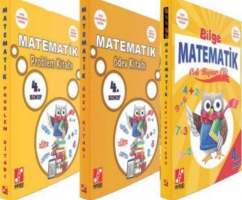 Medyan Yayınları 4. Sınıf Matematik Çek Kopar Çöz Ödev Kitabı Problem Kitabı Seti