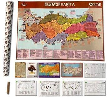 Mehmet Eğit  KPSS TYT AYT Efsane 10 lu Harita Seti
