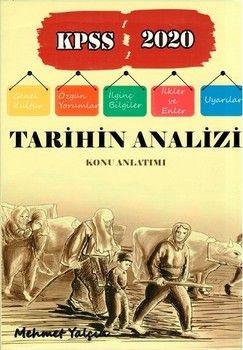 Mehmet Yalçın 2020 KPSS Tarihin Analizi Konu Anlatımı