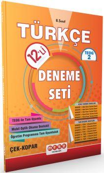 Merkez Yayınları 8 . Sınıf TEOG 2 Türkçe 12 li Deneme Seti Çek Kopar