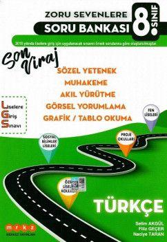 Merkez Yayınları 8. Sınıf LGS Türkçe Son Viraj Zoru Sevenlere Soru Bankası