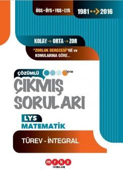Merkez Yayınları LYS Matematik Türev İntegral Çözümlü Çıkmış Sorular 1981 ? 2016