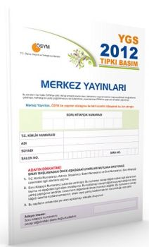 Merkez Yayınları YGS 2012 ÖSYM Tıpkı Basım Deneme