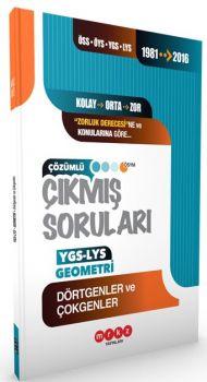 Merkez Yayınları YGS LYS Geomteri Dörtgenler ve Çokgenler 1981 2016 Çıkmış Soruları