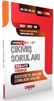 Merkez Yayınları YGS LYS Türkçe Sözcükte Anlam Cümlede Anlam 1981 2016 Çıkmış Soruları