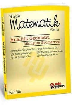 Metin Yayınları Analitik Geometri Dönüşüm Geometrisi Matematik Serisi Kampanyalı