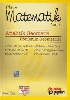 Metin Yayınları Analitik Geometri Dönüşüm Geometrisi Kampanyalı