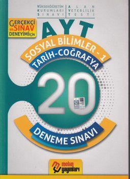 Metin Yayınları AYT Sosyal Bilimler -1(Tarih- Coğrafya) 10 Deneme Sınavı