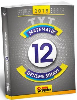 Metin Yayınları YKS 1. Oturum TYT Matematik 12 Deneme Sınavı
