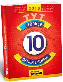 Metin Yayınları YKS 1. Oturum TYT Türkçe 10 Deneme Sınavı