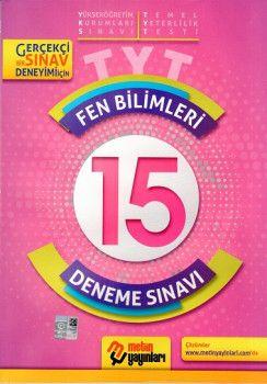 Metin Yayınları YKS 1. Oturum TYT Fen Bilimleri 15 Deneme Sınavı