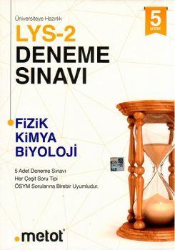 Metot Yayınları LYS 2 Fizk Kimya Biyoloji 5 li Deneme Sınavı