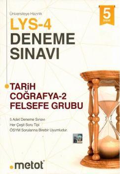 Metot Yayınları LYS 4 Tarih Coğrafya 2 Felsefe Grubu 5 li Deneme Sınavı
